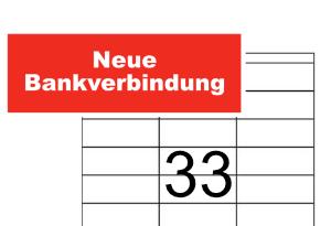 Zweckform Etikett 3421 Neue Bankverbindung Rot