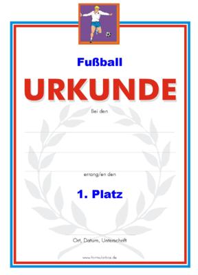 Fussball Urkunden Vorlagen Und Muster Downloaden