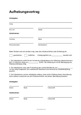 Aufhebungsvertrag Muster Infos Arbeitsrecht 2021 11