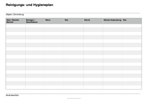 Reinigungsplan Und Hygieneplan Word Word Vorlage Zum Herunterladen