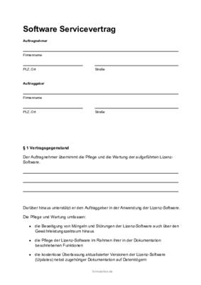 Schriftliche Vereinbarung Muster Kostenlose