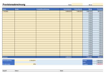 Provisionsabrechnung Deckungsbeitrag Excel Vorlage Zum Herunterladen