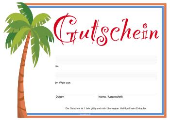Vector Geschenk Reise Gutschein Vorlage Tropische 15