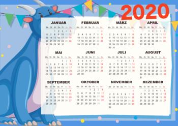 kalender 2020 dino pdf vorlage zum ausdrucken
