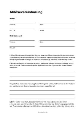 Kaufvertrag Wohnungseinrichtung Muster Zum Download