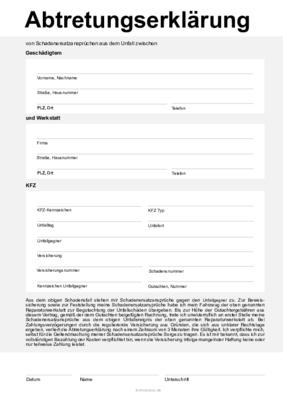 Abtretungserklarung Goa Igel Privatabrechnung Teramed 8