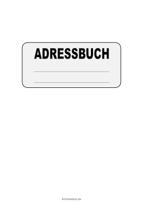 14 Einzigartig Adressbuch Vorlage Zum Drucken
