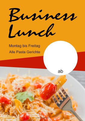 Poster Business Lunch Pasta hier downloaden