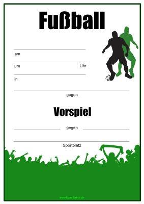 Fussball Plakat Poster Mit Vorspiel Pdf Vorlage Zum Ausdrucken