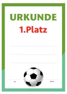 Fussball Urkunde Zum Herunterladen