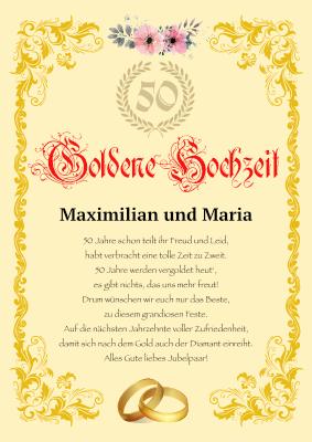 Urkunde Goldenen Hochzeit Hier Herunterladen Und Ausdrucken