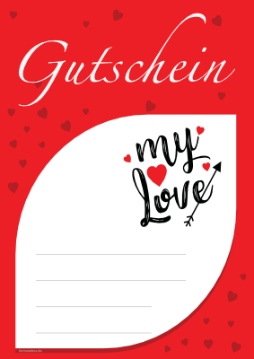 Gutschein 'My Love', Rot hier downloaden