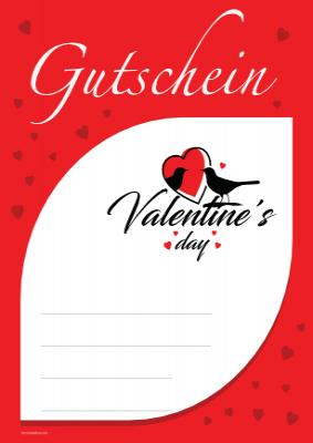 gutschein 39 valentine 39 s day 39 rot vorlage muster zum ausdrucken. Black Bedroom Furniture Sets. Home Design Ideas