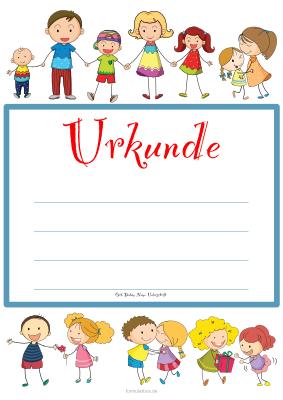 Kinder Urkunde Kinder Spielen Vorlage Muster Zum Ausdrucken