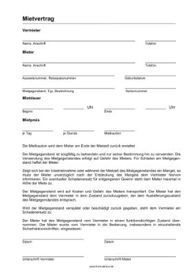 Mietvertrag Wohnung Pdf Kostenlos Zum Download 11