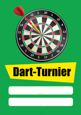 Plakat Dart-Turnier hier downloaden