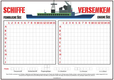 Schiffe Versenken Pdf Vorlage Zum Ausdrucken 6