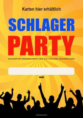 Poster Schlager Party (Wann) hier downloaden