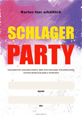 Poster Schlager Party (Wann, Wo) hier downloaden