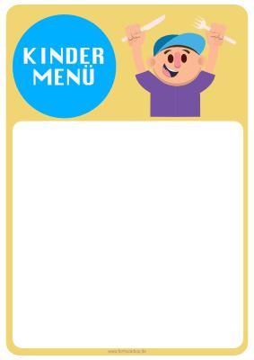 speisekarte kindermen 1 vorlage muster zum ausdrucken - Getrankekarte Muster