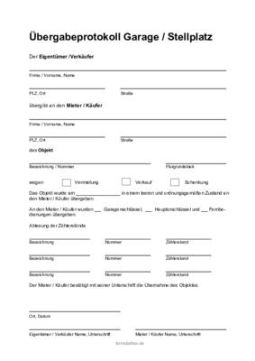 Hausubergabeprotokoll Mustervorlage Als Pdf Zum Download