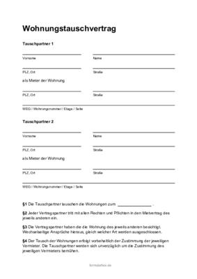 Tauschvertrag Fur Gegenstande Und Sachen 1