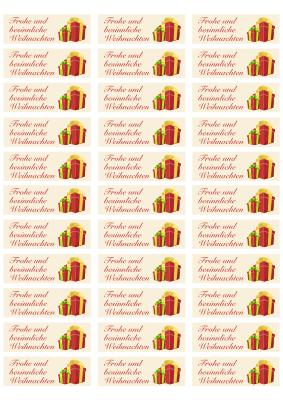 Zweckform Etikett 3422 Weihnachtsgeschenke