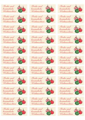 Zweckform Etikett 3422 Weihnachtsbaumkugeln