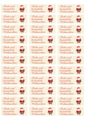 Zweckform Etikett 3422 Weihnachtsmann