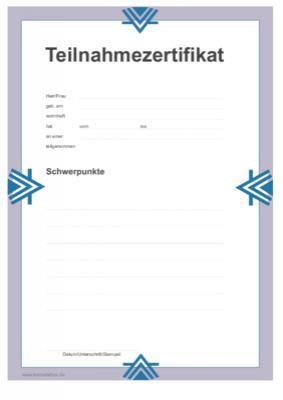 teilnahmezertifikat | diplome | vorlage, muster zum herunterladen, Einladung