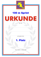 100 m Sprint Urkunden Set PNG-Grafiken hier downloaden