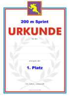 200 m Sprint Urkunden Set PNG-Grafiken hier downloaden