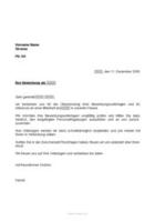 Musterbrief Eingangsbestätigung Bewerbung Unterlagen Vorlage