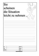 Cartoon Faxformular, Sie scheinen die Situation ...