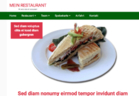 Responsives Template 'Restaurant Green-Red'