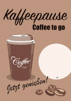 Plakat 'Coffee to go'