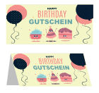 Gutscheinkarte 'Happy Birthday'