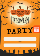 Plakat Halloween Party (Frei)