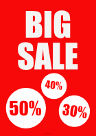 Plakat 'Big Sale'