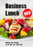 Restaurant Plakat Business Lunch, Neu