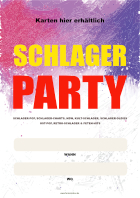 Plakat Schlager Party (Wann, Wo)