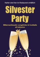 Plakat Silvester Party - Champagner