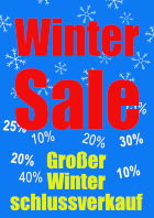Plakat Winter Sale (WSV), Blau