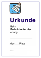 Urkunde Badminton hier downloaden