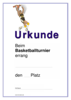 Urkunde Basketball hier downloaden