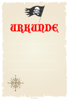 Urkunde Piraten, Windrose